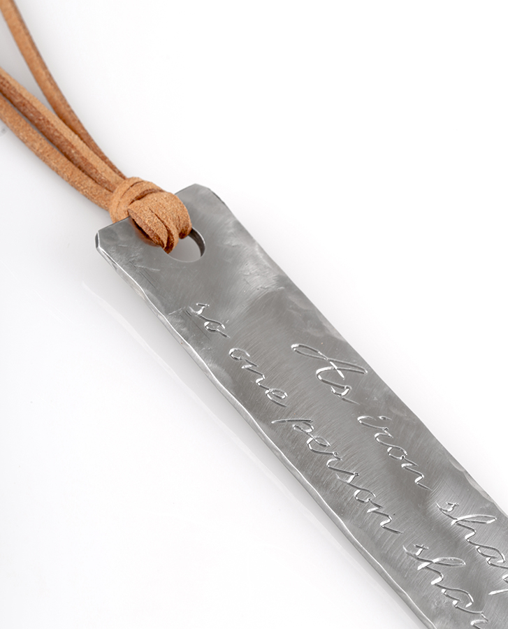 gifts made from steel engraved bookmark handmade