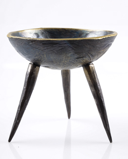 hand crafted metal bowl