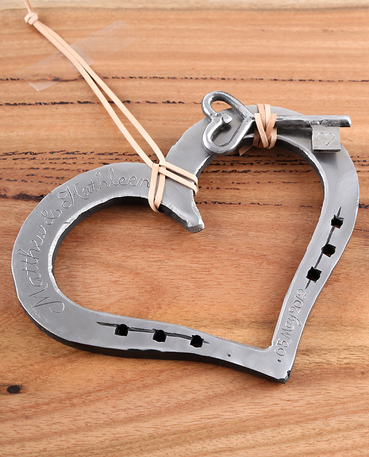 hand crafted loveheart horseshoe anniversary or valentine gift